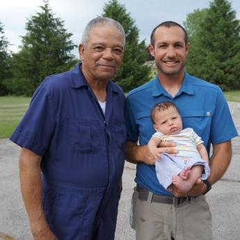 Grandpa Florence, Dad & me!