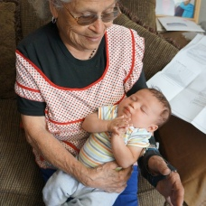 I finally got to meet Great Grandma Garcia!!