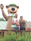 Family photo with Yogi the Bear