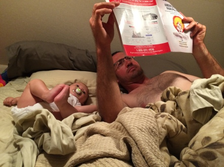 Reading Consumer Reports with Dad