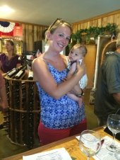 Wine tasting with Krissa