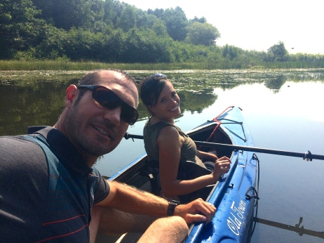 Mom & Dad kayaking