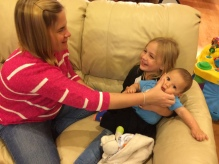 Aunt Jessie & Little T came to visit me!