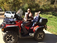 And another 4 wheeler ride.