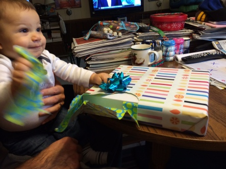 Happy Birthday, Papa Florence! I'll help you open that.