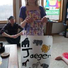 Easter 2014: Cortney made me a poster!