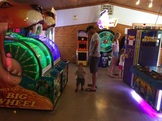 An arcade! Talk about overstimulation!!
