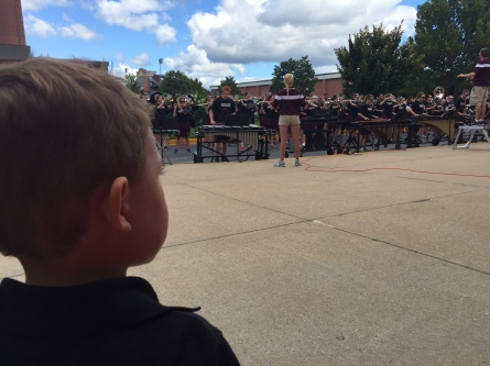 Watching the UWL Marching Band