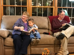 Reading with Great Aunt Mary