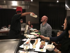 Geoff catching some Sake