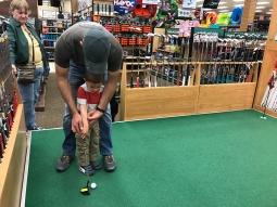 Golfing at Scheel's