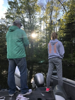 Cory and Ashlee fishing