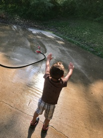 Sprinkler fun!