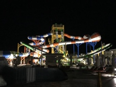 The waterpark at dark
