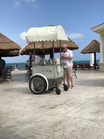 The much-appreciated ice cream cart!