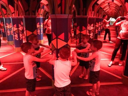 A mirror maze