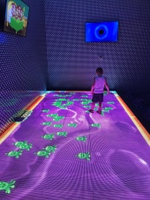 An interactive floor game