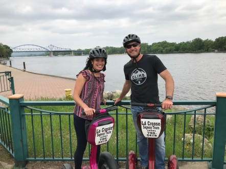 Mom surprised Dad with a La Crosse Segway tour!