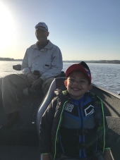 Me and my boys (Dad & Grandpa) went fishing a lot in our new-used boat.