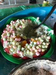 It's easy to like salad when it's covered in marshmallows!