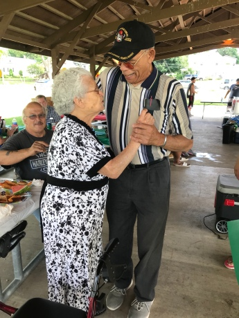 Papa and Great Grandma getting their dance on