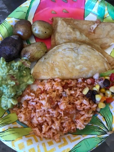 Especially when Cha Cha makes Mexican rice, guacamole and quesadillas!