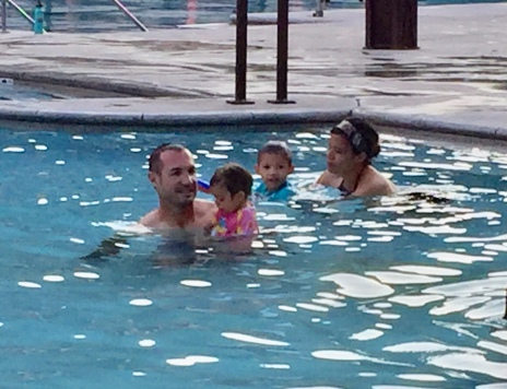 A family that swims together, stays together