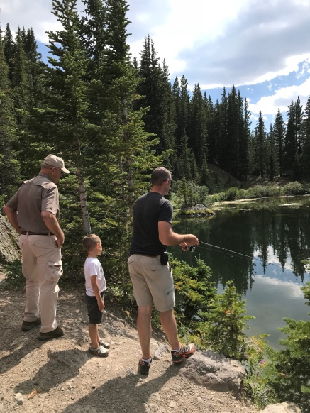 Fishing at Alta Lakes