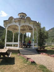 Lunch under the gazebo at Silverton Park