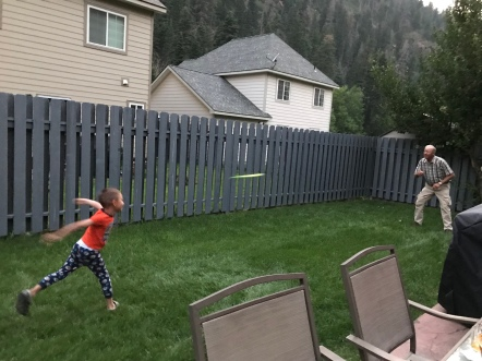 Frisbee with Grandpa