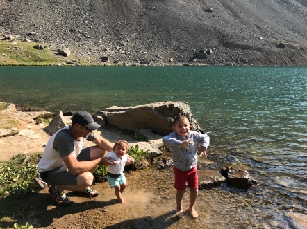 We found the lake, 12,000 feet above sea level!