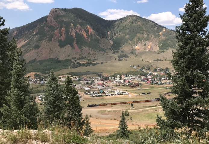 The famous Silverton to Durango steam train