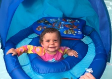 G loves her floaty too!