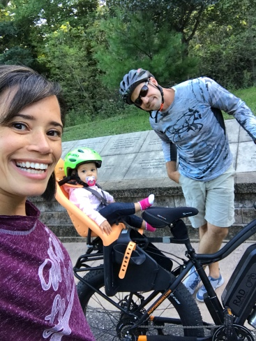 And we even went on a family bike ride...