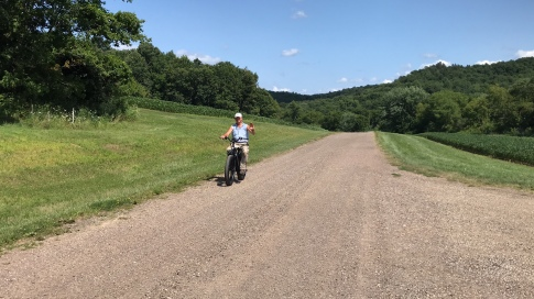 Dad got a new bike this summer and Grandpa took it for a test-drive!