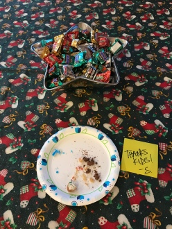 Santa left a note! And a trail of crumbs!
