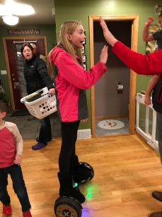 Cortney brought her new hoverboard for everyone to try!