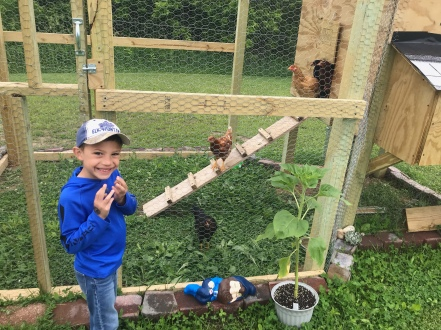 Visiting Garrett & Morgan's chickens