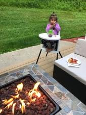 Fireside meal