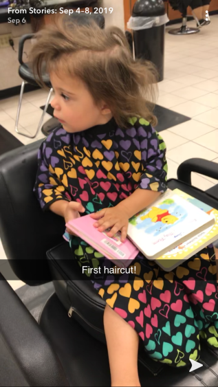 G's first haircut!!