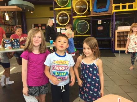 I ran into my friends at McDonald's!