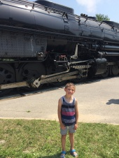 Checking out the steam engine (Big Boy) that came to town!
