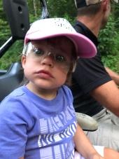 G loves wearing safety glasses