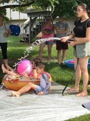 Summer splashing