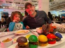 Rainbow burger sliders at the Sugar Factory