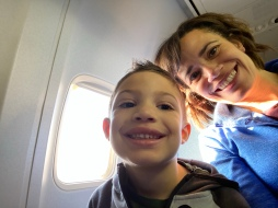 Me and mom on the plane