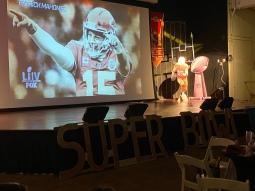 On the big screen.