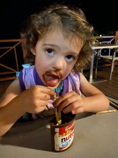 Nutella snack. Whatever keeps her happy.
