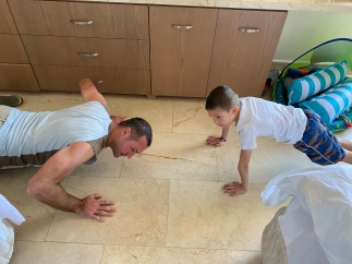Push-ups in the morning
