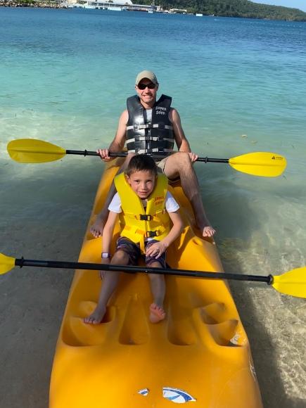 Kayaking with Dad!